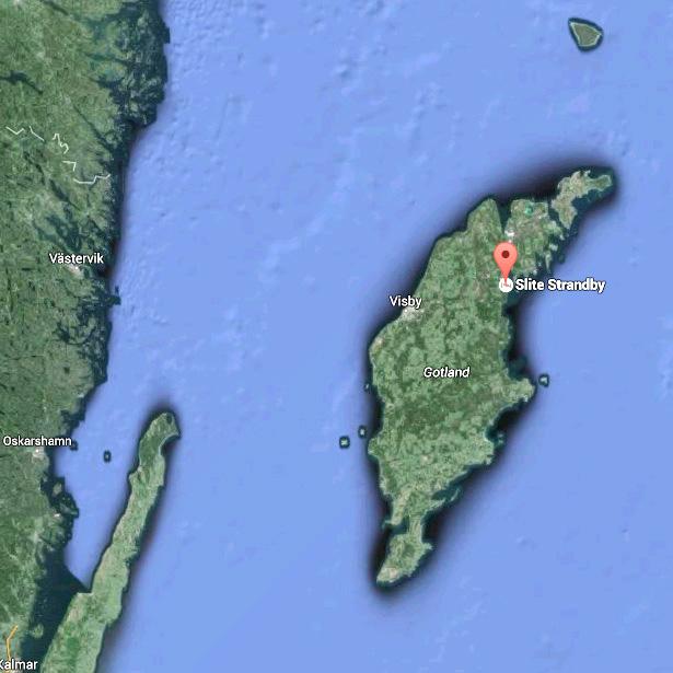 karta över slite På Gotlands östra kust med utsikt över hav och skärgård   Slite  karta över slite
